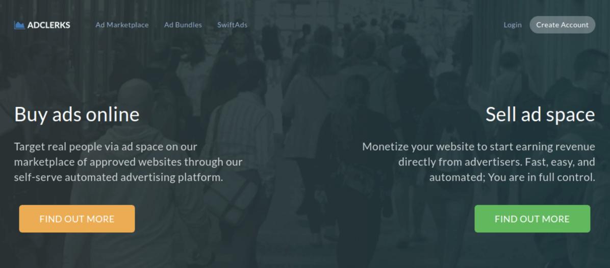 AdClerks Website Screenshots