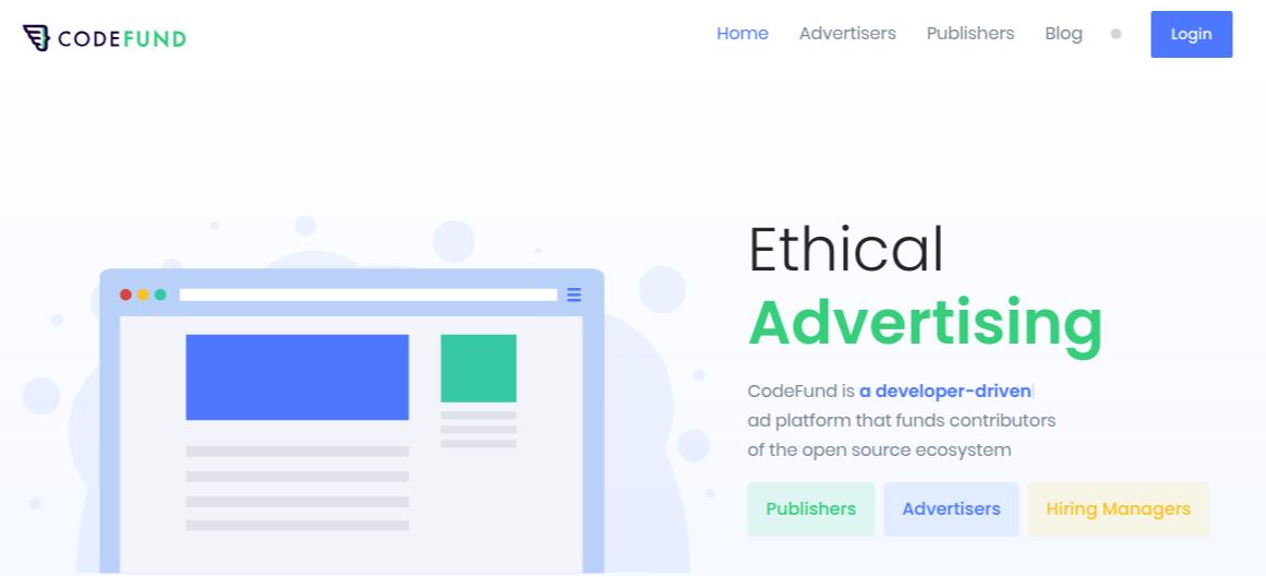 CodeFund Website Screenshot