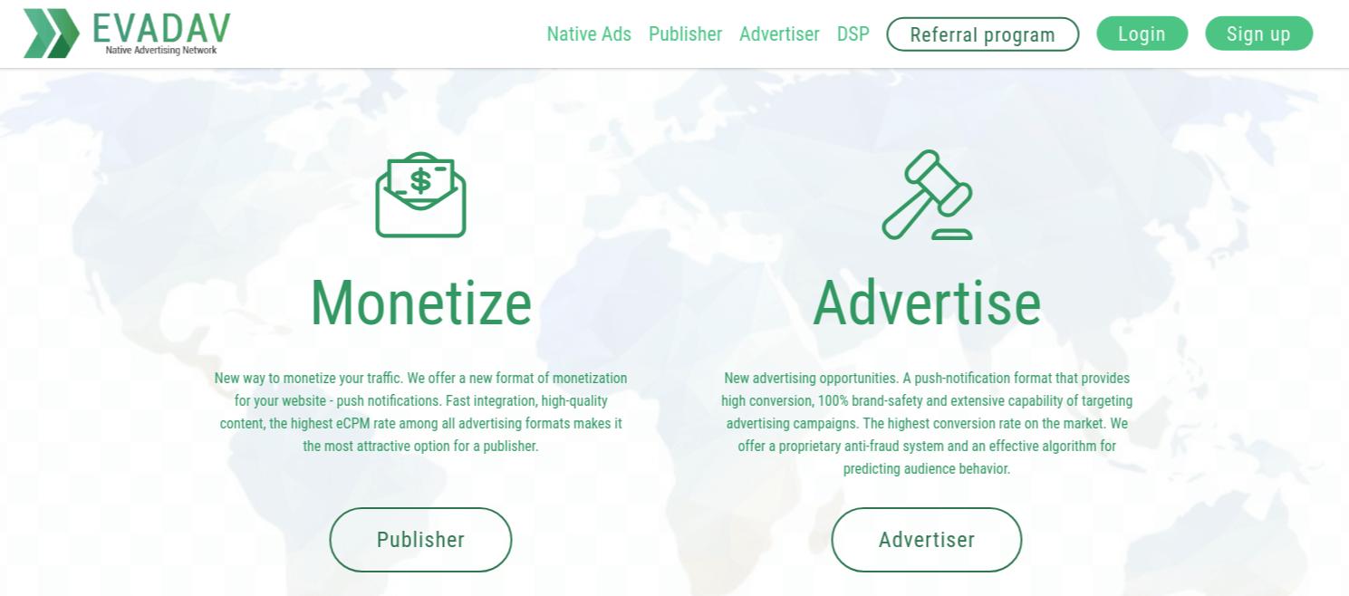 EvaDav Website Screenshot