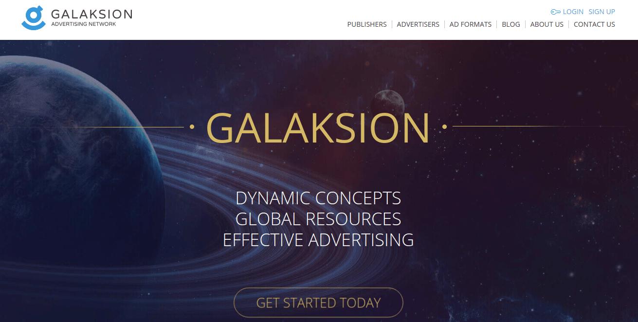 Galaksion Website Screenshot