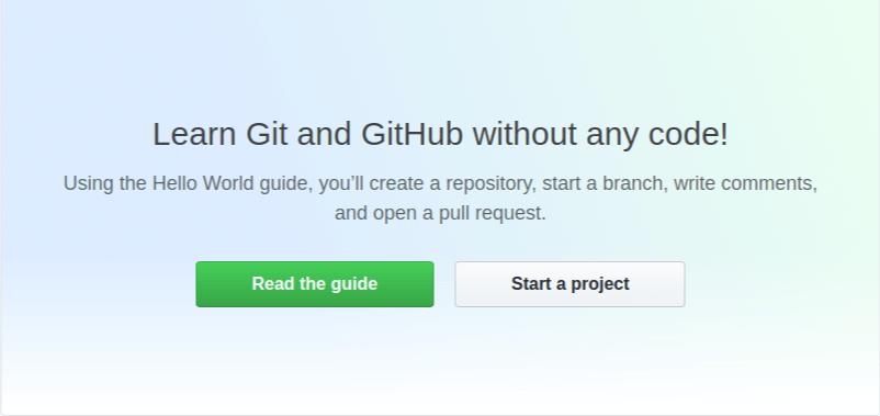 GitHub start a project landing page.