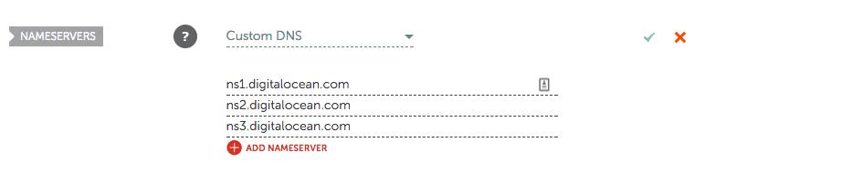 Namecheap domain configuration.