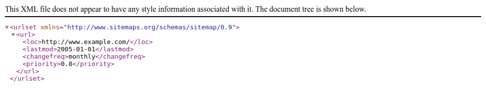 Next.js Sitemap.xml File Contents Shown In The Browser