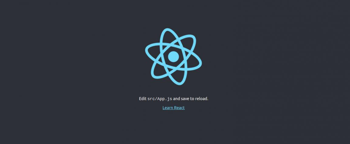 React app view in browser.