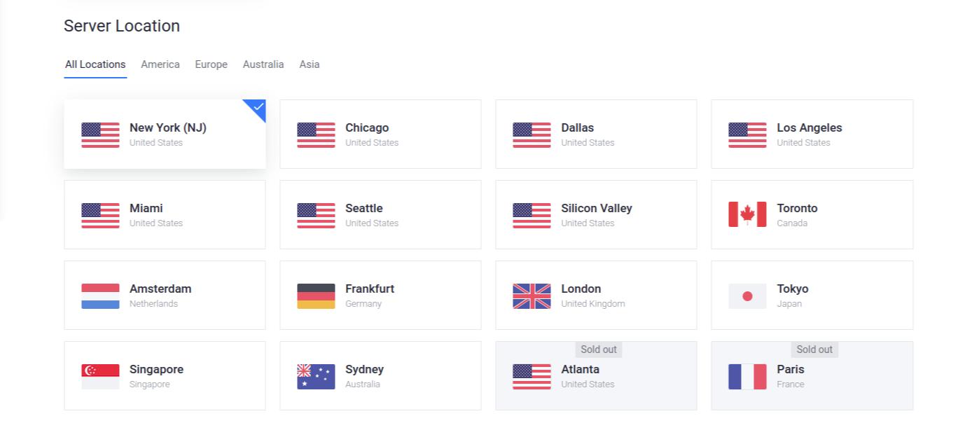 Vultr Deploy Server Location Screenshot