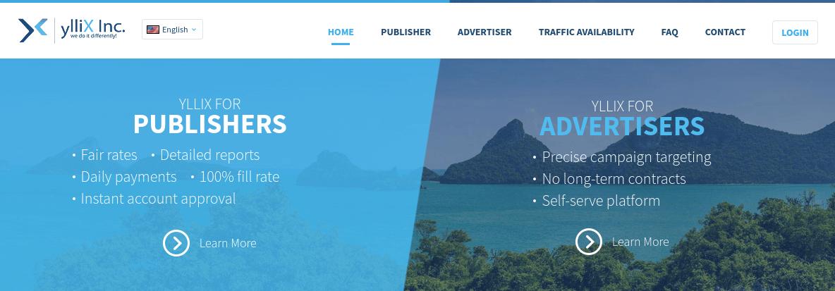 ylliX Website Screenshot